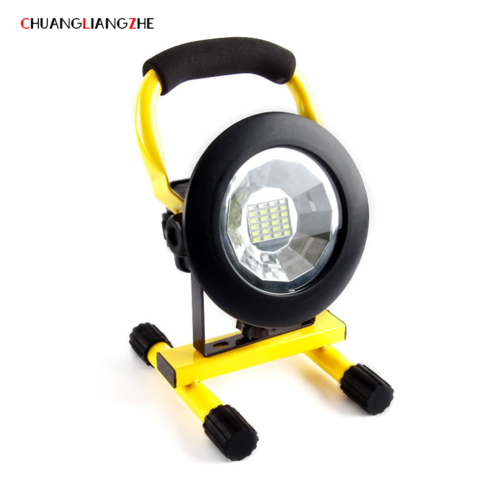 CHANGANGIANGZHE LED Portable Searchlight Rechargeable Spotlight Portable Outdoor Work Light Campfire Mobile Emergency Flashlight цены