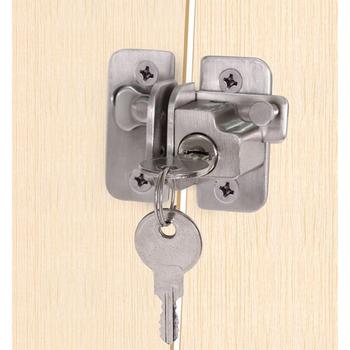 Etui z klapką zatrzask do drzwi sztabka ze stali nierdzewnej bramy zatrzaski zabezpieczenie do drzwi kłódka z kluczem tanie i dobre opinie Galwaniczne Complete set STAINLESS STEEL Keyed Alike 35-45mm