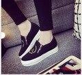 Женская мода Холст Обувь Классические низкой стиль плоские туфли Чистый и свежий и джокер досуг мокасины