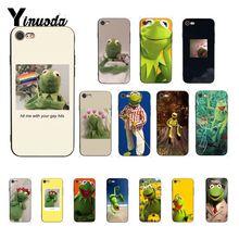 Yinuoda Kermit лягушка Забавный DIY печать рисунок чехол для телефона для iPhone 8 7 6 6S 6Plus X XS MAX 5 5S SE XR 10 чехол s
