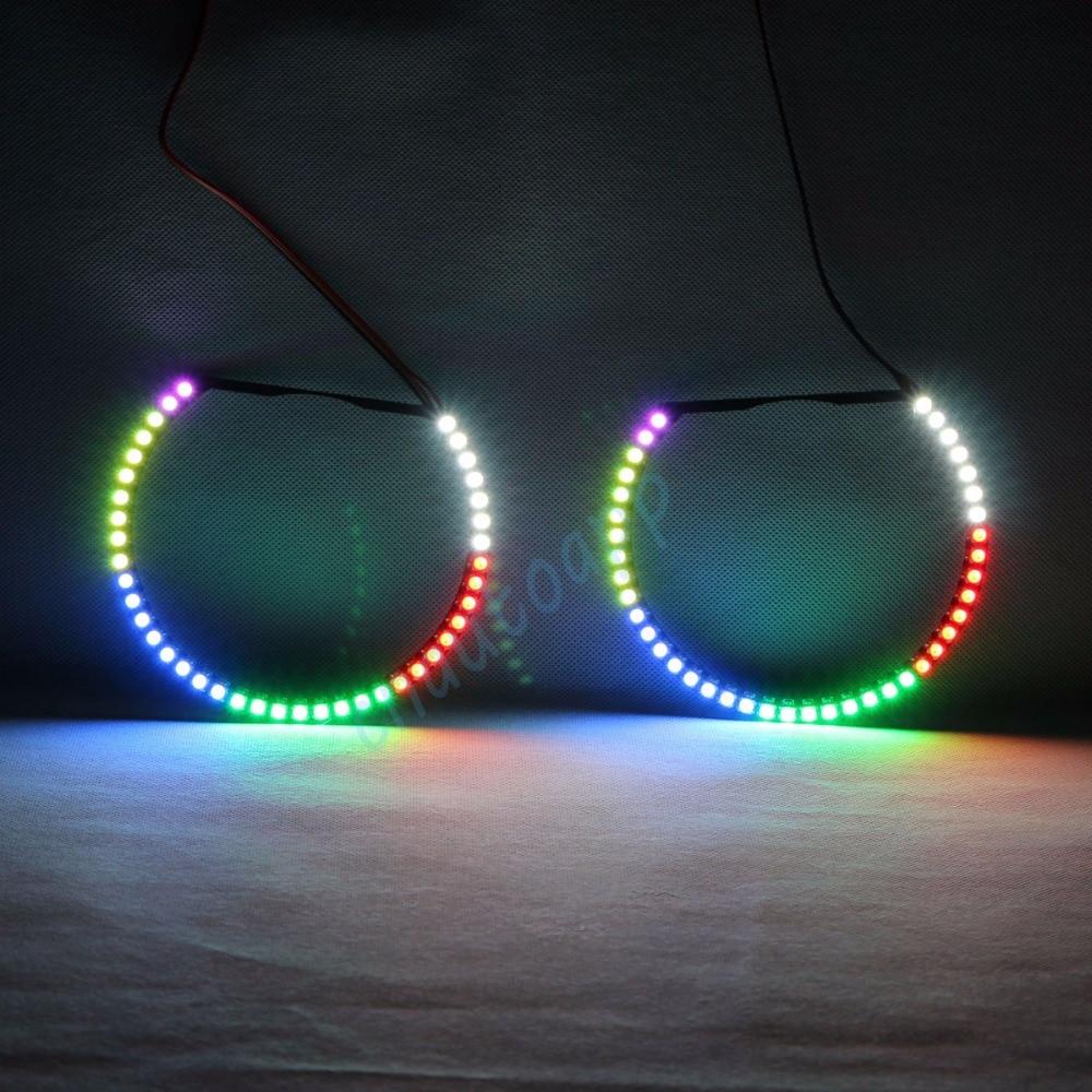 RGBW Angel Angel očiju okretna svjetla DRL LED rolling light - Svjetla automobila - Foto 3