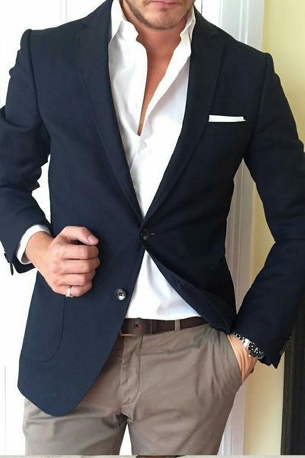 Mucielee Ternos Masculinos Classic Slim Fit Men Prom Suits Cheap Suits For Men Blazer Masculino 2 Pieces (Jacket+Pants)