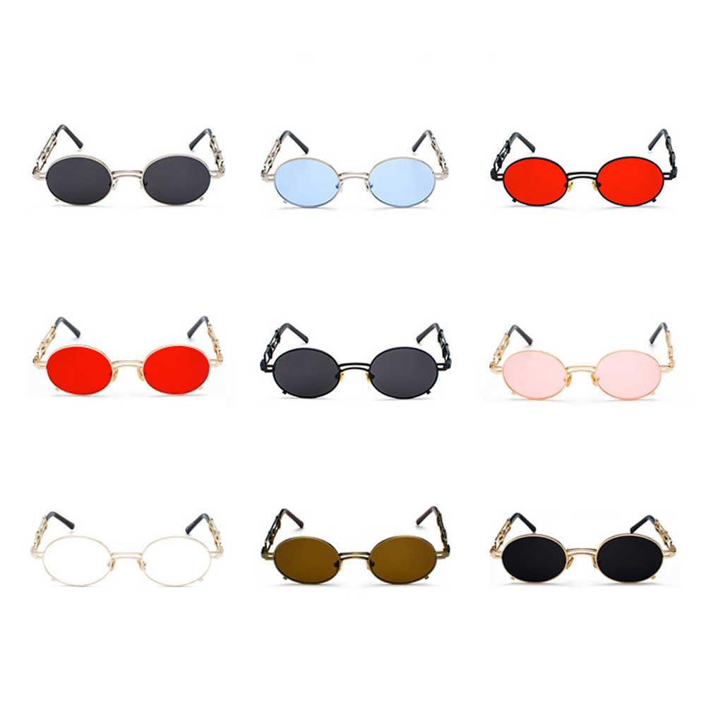 2c413f18de9 ... Peekaboo retro steampunk sunglasses men round vintage 2019 metal frame  gold black oval sun glasses for