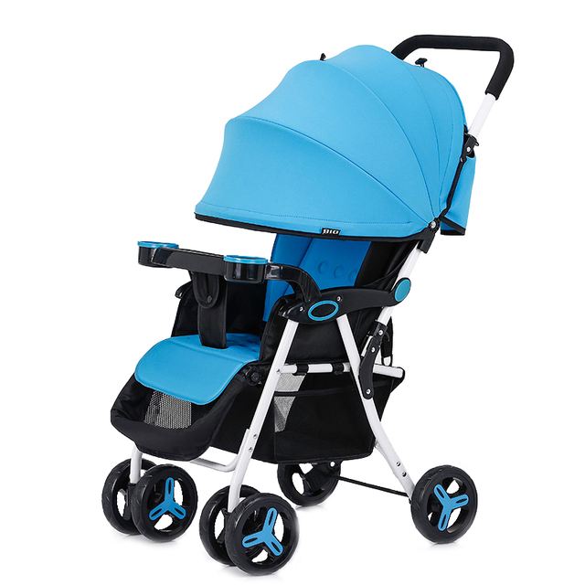 Top Selling Super Light Weight Baby Stroller Can Sit And Lie Baby Car Folding Easy Shockproof Portable Pram