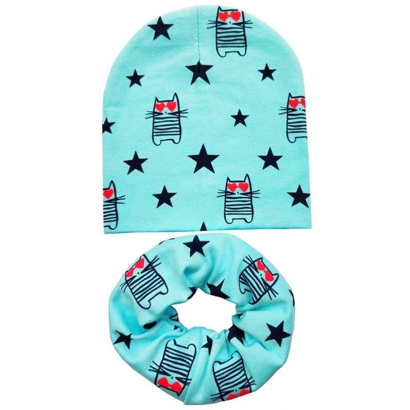1d9c46dd0337 2019 New Autumn Winter Crochet Children Beanies Hat Cat Star Cotton ...