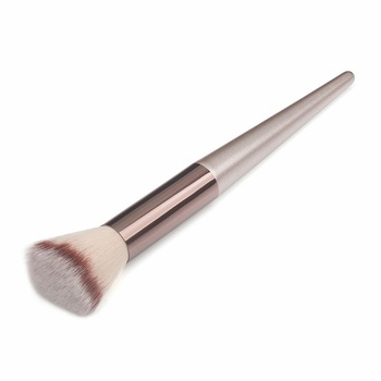 Wooden Champagne Makeup Brushes Set for Foundation Powder Blush Eyeshadow Concealer Lip Eye Make Up Brush Luxury Cosmetics Tools 6