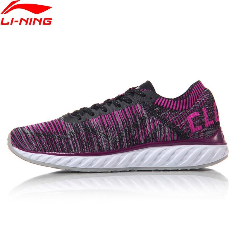 Li-ning femmes LN Cloud IV chaussures de course professionnelles respirant doublure baskets MONO fil chaussures de Sport ARHM034 XYP542