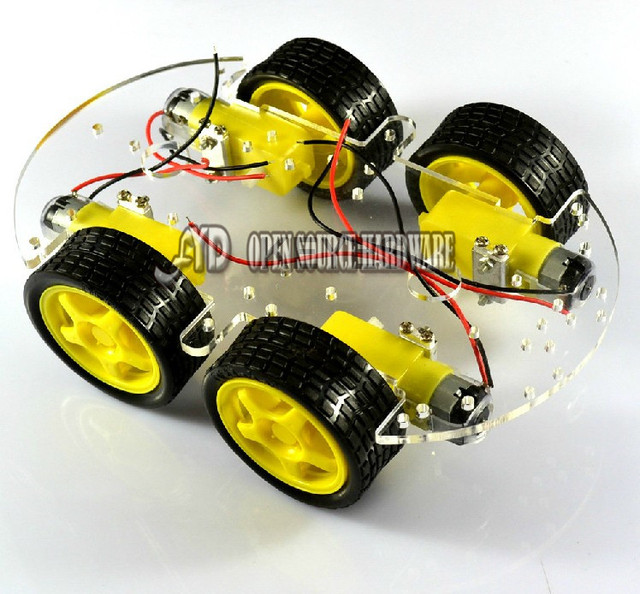 Smart car chassis / 4WD Speed car/ 4 wheel drive car/ Strong magneto ST-4WD