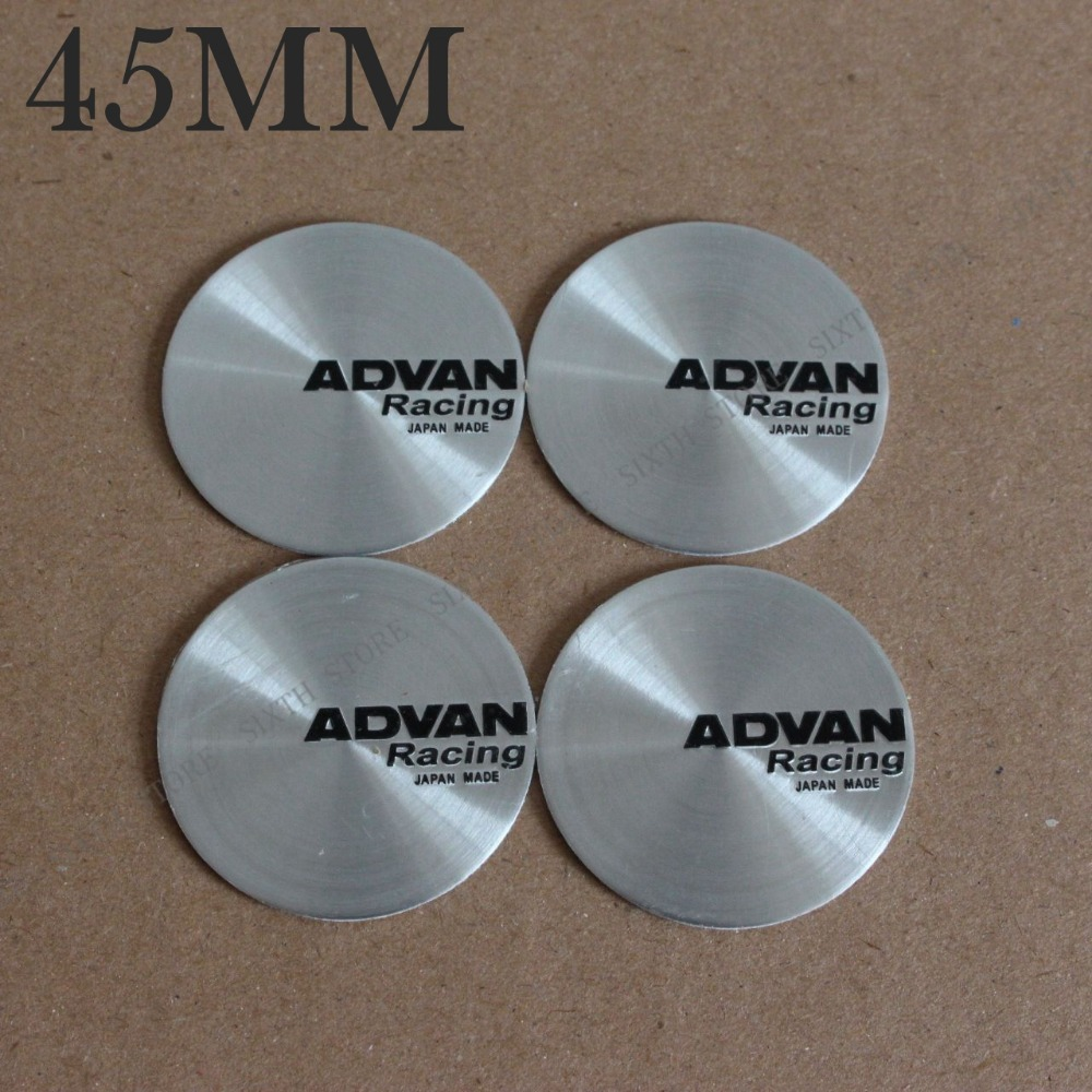Kom Power 45mm Advan Wheels Center Cap Stickers Advan Logo