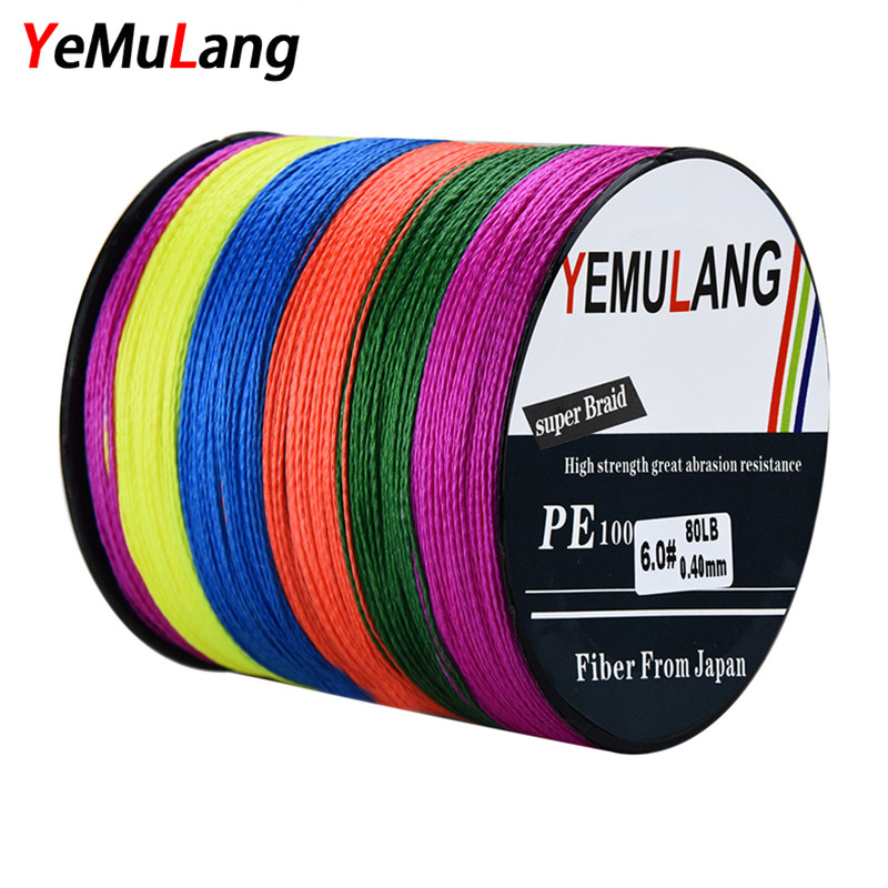 YeMuLang Multifilament Braided Fishing Lines 4 Strands 300m PE Wires Line Cord Fishing Pesca For Fly Fishing Thread Accessories 9 0 0 510mm nylon fishing line thread red 300m