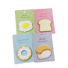 1pack/lot Kawaii Cute Breakfast Note Book Bread Sushi N Times DIY Memo Pad Notebook Label Sticker Notes School Office Supplies