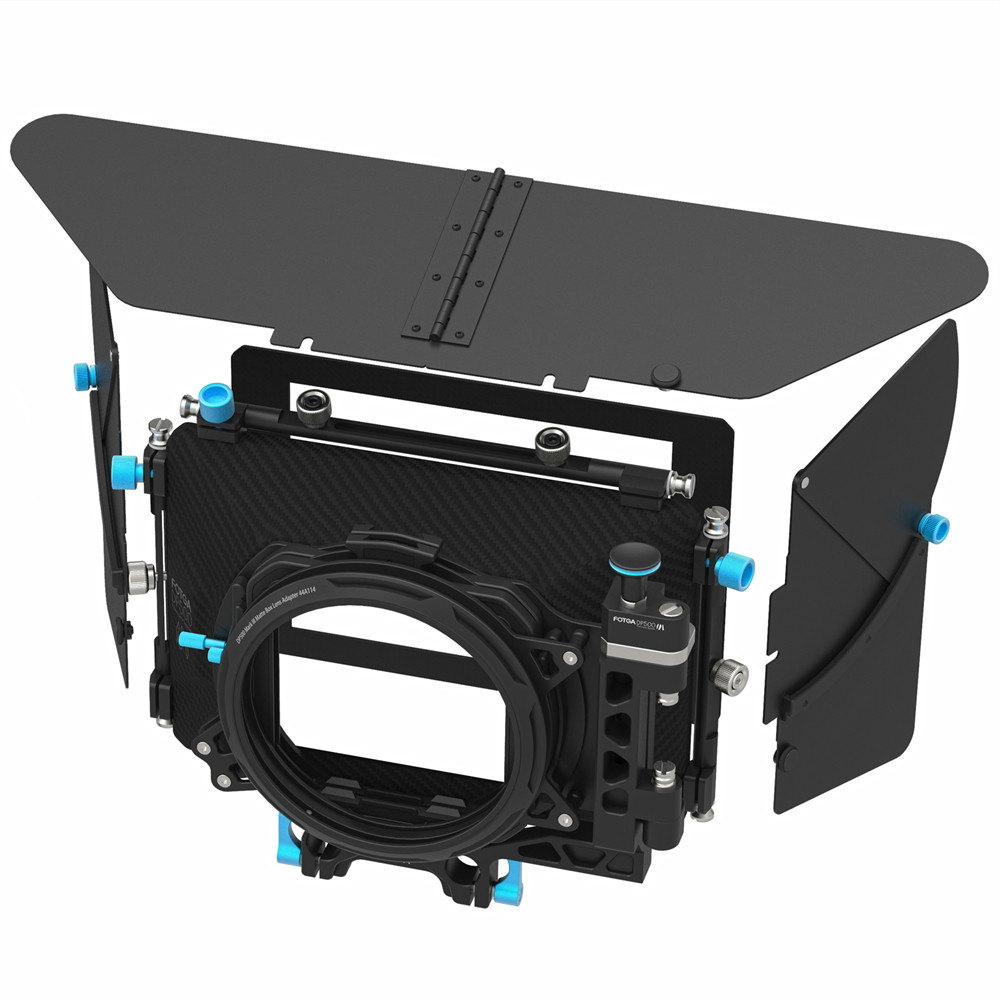 FOTGA DP500III Pro DSLR Swing-away Matte Box Sunshade for 15mm Rod Rig fotga dp3000 pro swing away matte box 4 3 16 9 ratio masks for 15mm rod dslr rig