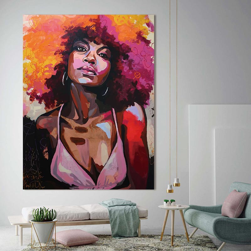 HTB1geLitCBYBeNjy0Feq6znmFXal canvas painting figure Picture wall art Picture portrait home decor painting abstract women picuture art poster and prints