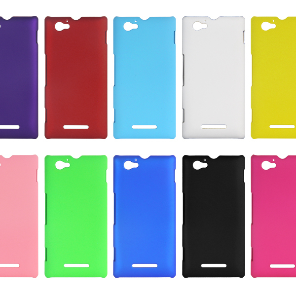low cost 1ac91 0dd20 US $1.2 |Hard Back Case Housse etui coque Case Cover pour Xperia M  /Dual/C1905/C1904/C2004/C2005 on Aliexpress.com | Alibaba Group
