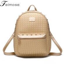 K8979 Multi use High quality PU font b Leather b font Mochila Escolar School Bags For