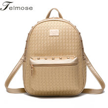 K8979  Multi-use High quality  PU Leather Mochila Escolar School Bags For Teenagers Girls Top-handle Backpacks