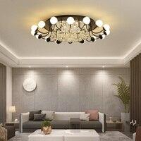Новый Кристалл Современные светодиодные люстры для Гостиная Спальня Кабинет дома деко акрил 110 В 220 потолочный люстра люстры украшения