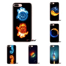 Transparente TPU caso para LG G3 G4 Mini G5 G6 G7 Q6 Q7 Q8 Q9 V10 V20 V30 X Power 2 3 K10 K4 K8 2017 de agua y fuego art Wallpapers(China)