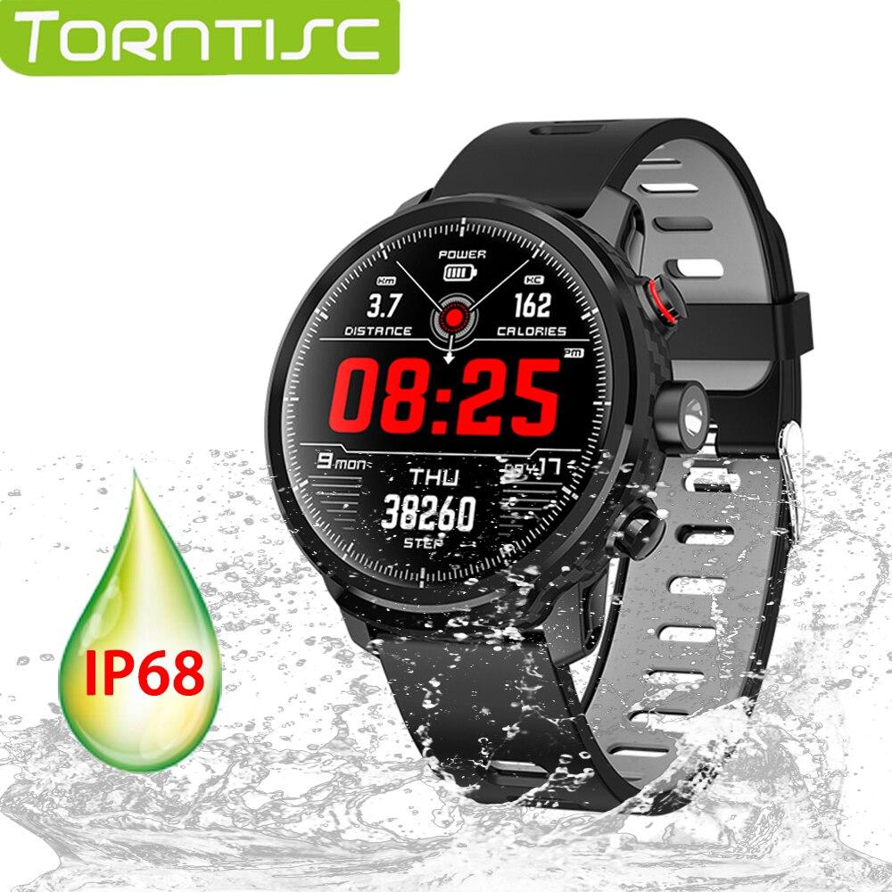 Torntisc nouvelle montre intelligente L5 étanche IP68 pour Android IOS téléphone Bluetooth fréquence cardiaque sang oxygène Tracker Smartwatch hommes femmes