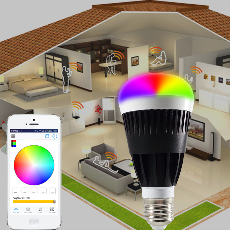 E27 Smart RGB White 10W Led Wifi bulb Wireless remote controller led light lamp Dimmmable bulbs for IOS Android led bulb light lamp supoort wifi bluetooth inner wireless remote control rgb white dimmmable e27 base for ios android phone vr