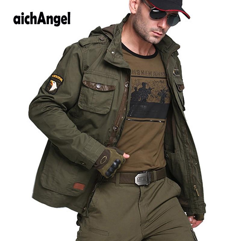 M65 US Air Force Bomber Army Tactical Jackets Men Autumn Combat Multi Pocket Coat Hoodies Windbreakers Military Jacket
