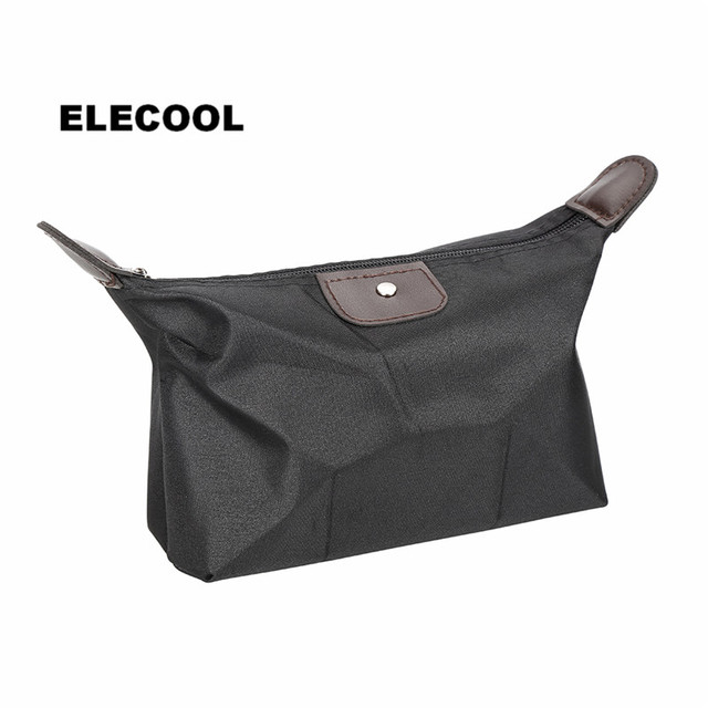 ELECOOL 1 Pc Dumplings Shape Travel Cosmetic Bag Organizer Holder Pouch Portable Multi-function Make Up Wash Bag Makeup Tool