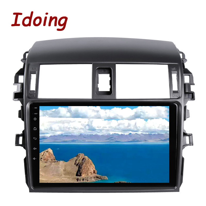 "Flash Deal Idoing 9""Car Multimedia Video Player Navigation GPS Android8.1For Toyota Corolla E150 140 2008-2013 Navigation Radio NO 2DIN DVD 4"