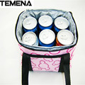 TEMENA  Luxurious  Pouch Lunch Container Thermal Insulated Cooler Bag Pretty Lunch Box Tote Lunch Bags BLB387A