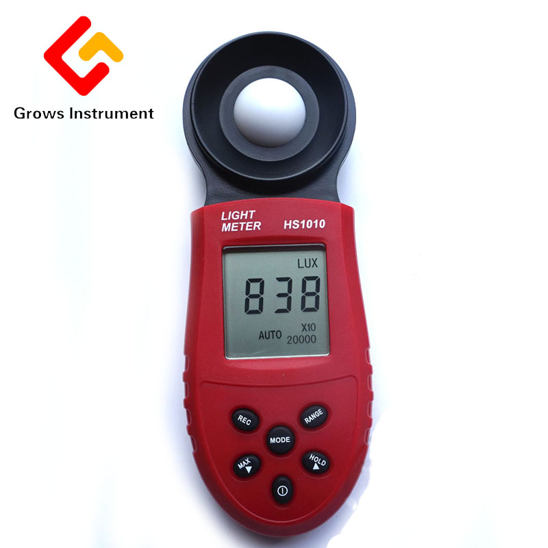 <font><b>HS1010</b></font> Digital Illuminometer 200,000 Lux Illumination Meter Professional Photometer Automatic Measurement Monocoque Luxmeter image
