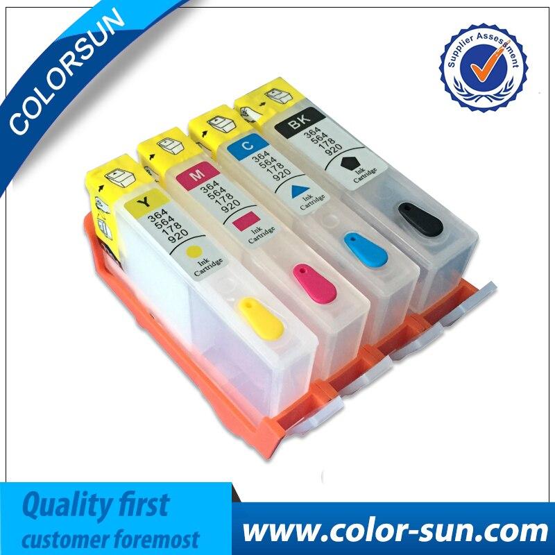 4 pçs cartucho de tinta recarregável para hp920 para hp 920 xl inkjet officejet 6000 6500 6500a 7000 7500 7500a impressora com chip de reset