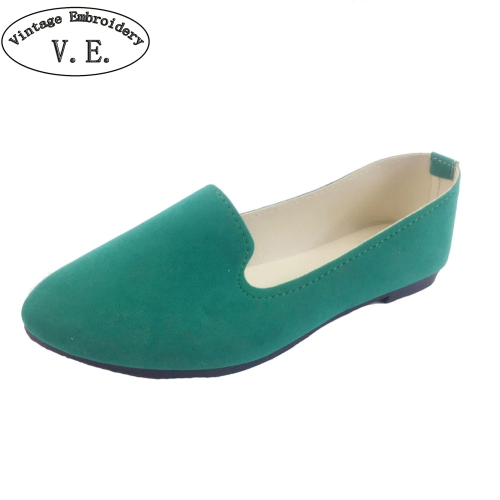 Plus Size Shoes Women Flats Candy Color Woman Loafers Spring Autumn Flat Shoes Women Zapatos Mujer Summer Shoes Size35-43(China)