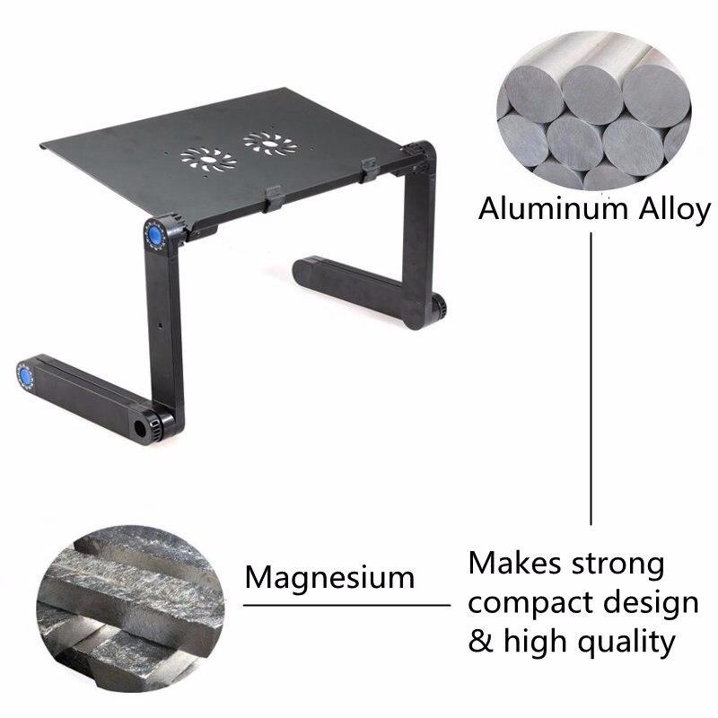 Портативный 360 складной стол для ноутбука компьютерный стол 2 отверстия охлаждающая подставка для ноутбука Настольный держатель с коврик для мышки для ноутбука стол для кровати