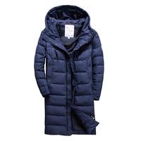 European brand Snowimage 2019 40 degree warm winter down jacket men hoodies 120CM Long Thick windbreaker coat size 46 54 705A