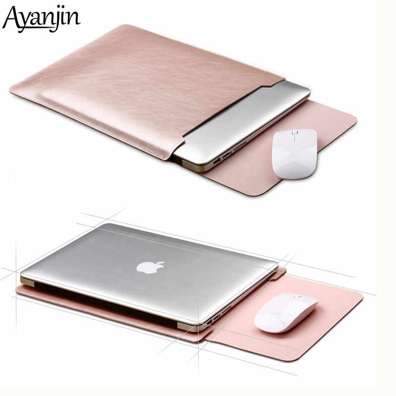 Mouse Pad Kantong Notebook Case untuk Xiaomi MacBook Air 11.6 12 13 Cover Retina Pro 13.3 15 15.6 Laptop Fashion lengan Kulit Tas