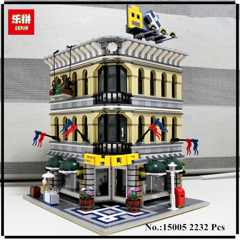 IN STOCK LEPIN 15005 2232pcs City Grand Emporium Model Building Blocks Kits Brick Toy Compatible Educational toys 10211