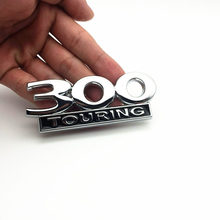 Auto car 300 TOURING Emblem Badge Sticker For Chrysler 300C Hemi Emblem Badge Hood Fender Trunk Name Plate Car Styling стоимость