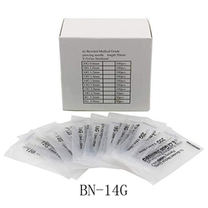 Image 1 - 14 Gauge 100PC Piercing Needles Sterile Disposable Body Piercing Needles 14G For Ear Nose Navel Nipple for Piercing Supplies