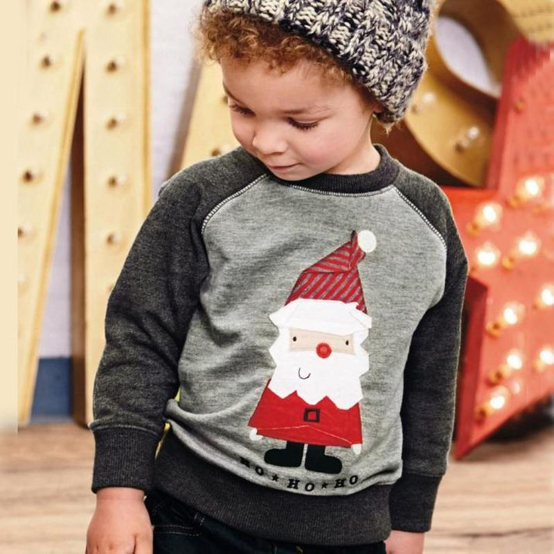 New Autumn Winter Christmas Baby Boys Girls Casual T-shirt Baby Santa Claus Print Shirt Infant Long-Sleeved Blouse christmas santa claus high low plus size t shirt