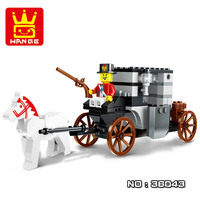 WANGE Educational Building Toys New 36043 Escape Carriage Pirate Series Building Blocks For Toddlers And Preschoolers