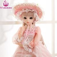 UCanaan/60 см BJD куклы новое поступление SD куклы с наряд элегантное платье парики Shose шляпа макияж Красивая мечта девочки игрушки KD куклы
