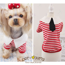 Fashionable, cute college / sailor-style puppy suit