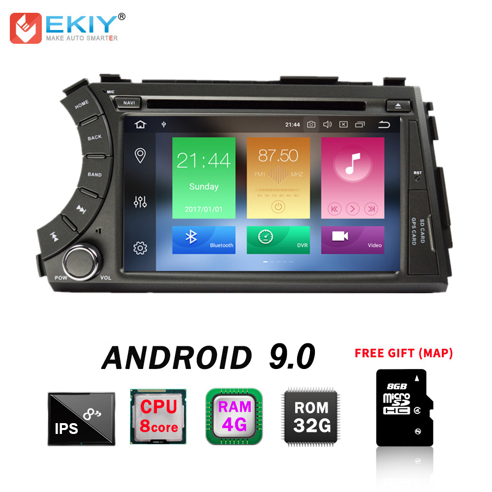 EKIY 7 IPS Octa Core Android 9.0 2 Din Car Radio DVD Multimedia Player For Ssangyong Kyron Actyon GPS Navigation Bluetooth Wifi