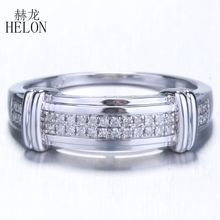 HELON 925 Sterling Silver Ring 100% Genuine Natural Diamond
