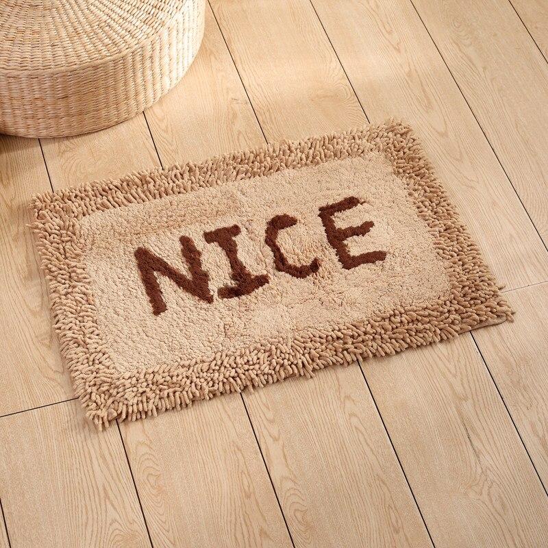 Tapis lettre Style nordique pour salle de bain tapis paillasson grande taille tapis de cuisine Pad confortable coton tapis antidérapant tapis Alfombra