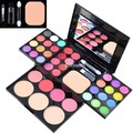 ADS Fashion Eyeshadow Palette Eye shadow+Lip Gloss+Blush Makeup Powder Palette+Puff Brush Pen Tool Make Up Kit Set