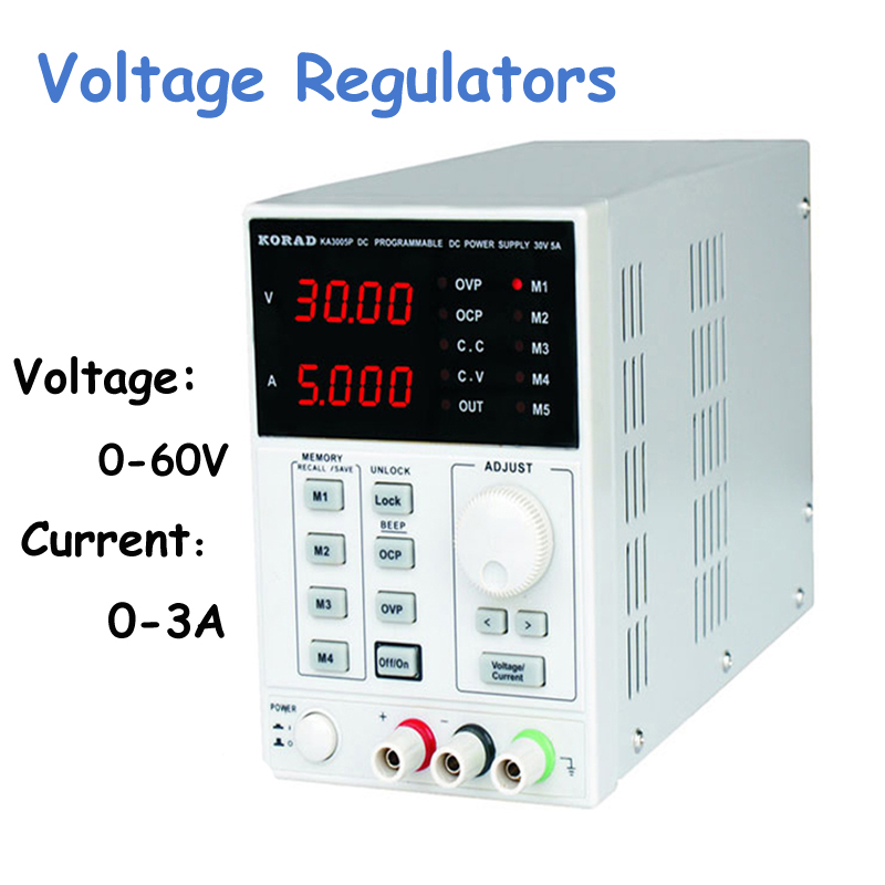 Voltage Regulators/ Stabilizers DC Power Supply Lab Programmable Adjustable Digital Regulated Power Supply 60V/3A mA 4Ps KA6003D lm317 adjustable dc power supply voltage diy voltage meter electronic training kit parts