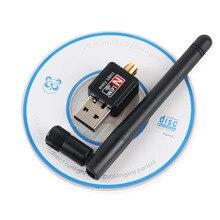 Mini USB Wifi Adaptateur 150 Mbps 2dBi Wi fi Antenne Sans Fil Ordinateur Réseau LAN Carte Portable Pour PC Portable 802.11g/b/n