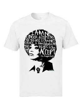 Angela Davis Actor T Shirt Letter Hair Art Character Tshirts White Out In The Night Cotton Design T Shirts Men Sweater Clothes цена 2017