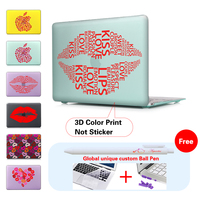 Colorful Sexy Lips Laptop Cover Case For Apple MacBook Air 11 13 New 12 inch Case Pro 13 15 Retina Touch bar Model A1706 A1707