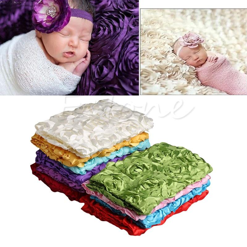Baby Fotografie Decke Neugeborene Baby 3d Fotografie Requisiten Teppich Foto Rose Blume Hintergrund Decke Neue